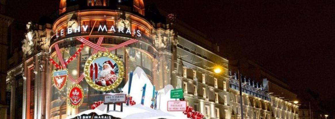 Christmas windows displays at the big department stores